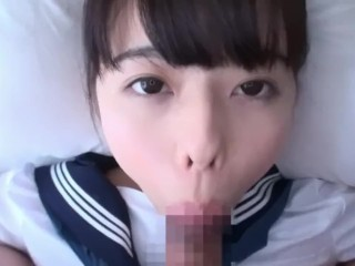 POV Blowjob – Yuna Ogawa [Eye Contact, Tongue out]