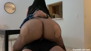 Busty THICK Schoolgirl Whore seduced Stepdad to avoid going to Back To School